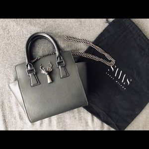 EUC Savas Milano Anna Karin Black Chain Mini Bag